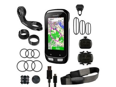 GARMIN Edge 1000 GPS-enabled computer - performance bundle - speed / cadence and HRM Run