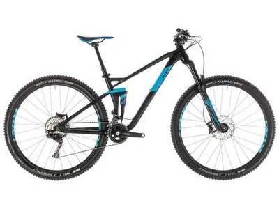 CUBE STEREO 120 RACE 29 BLACK/BLUE